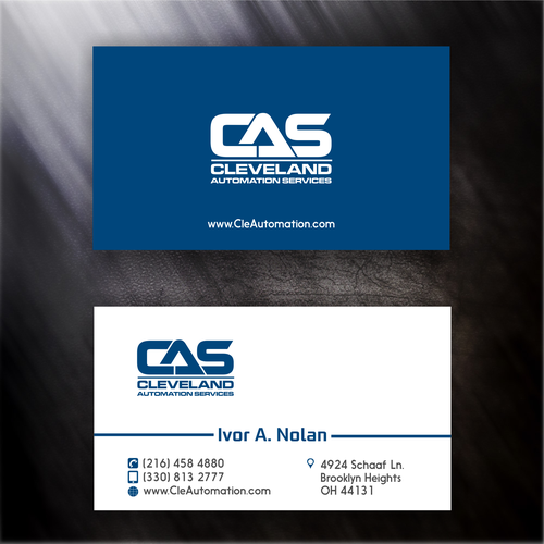 business card concept for a company