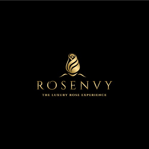Luxurious and sophisticated logo for a high end rose company