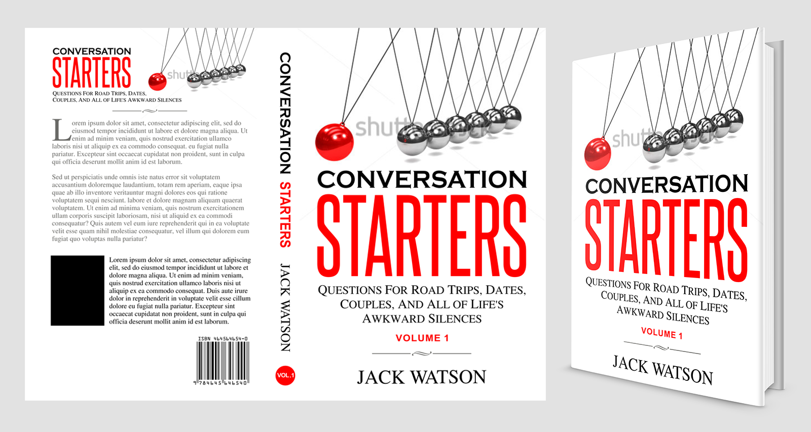 Create a fun and interesting cover for a conversation starters book
