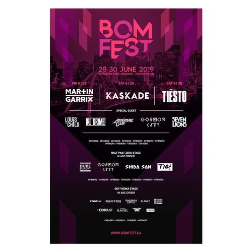 BOMFEST Poster Design