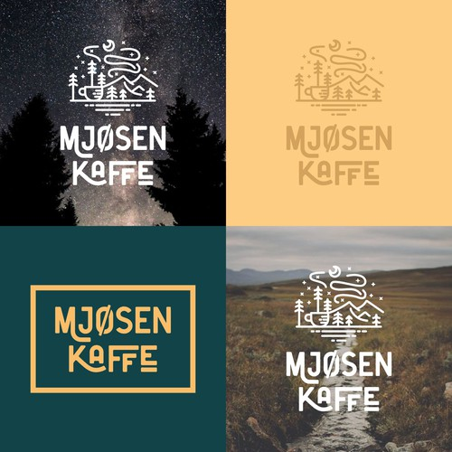 Logodesign for Mjosen Kaffe, a coffee roastery in Norway