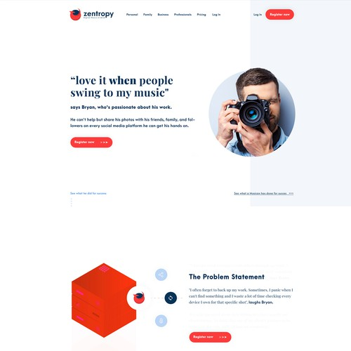 Webdesign for a cloud company