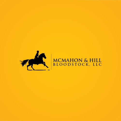 Create a simple & clean logo with an equine/thoroughbred racing theme.