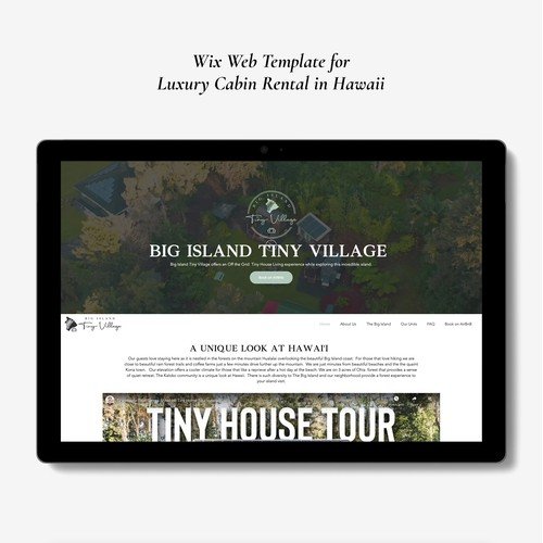 Wix design and implementation for Luxury Cabin Rentals