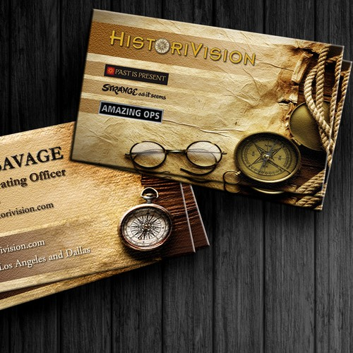 Create the next business card for HistoriVision