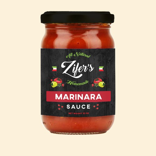 Label design for tomato sauce