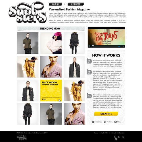 Snobsters logo & website