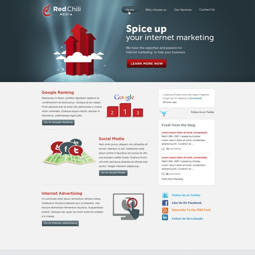 Red Chili Media Landing Page