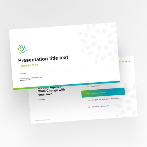 Medical presentation template design