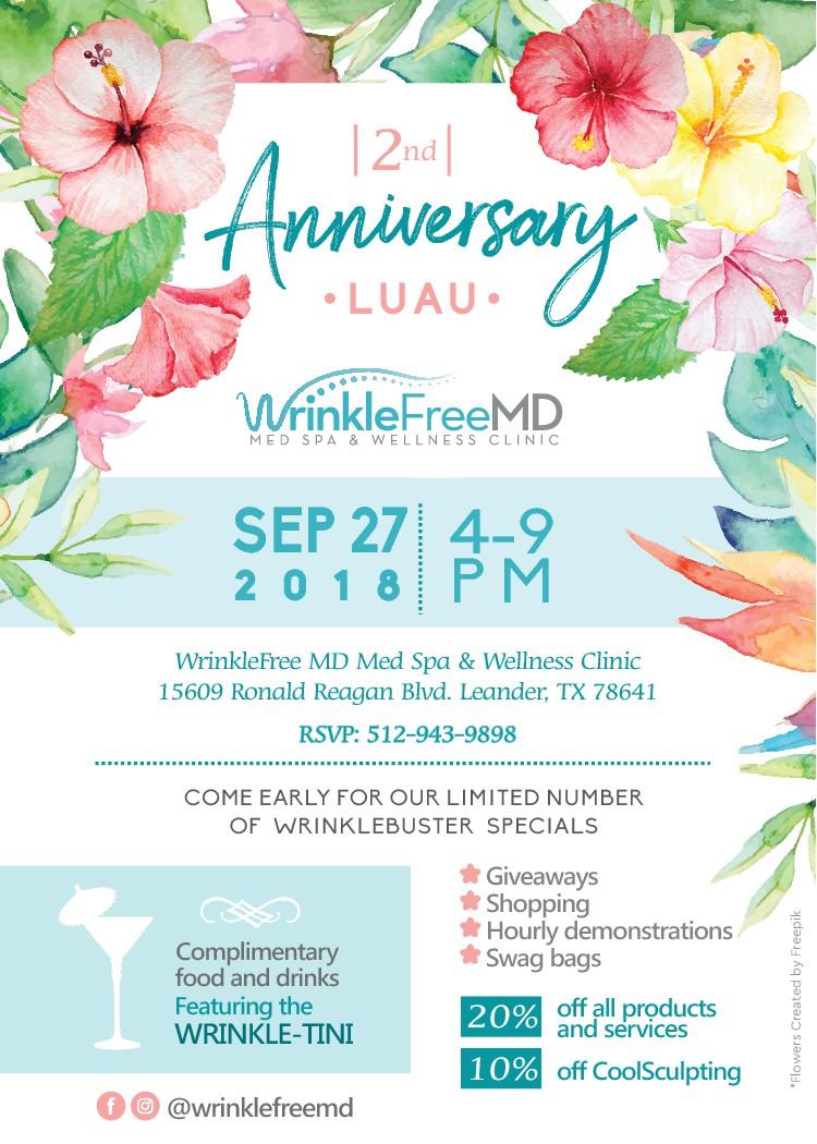 Medical Spa anniversary event invitation