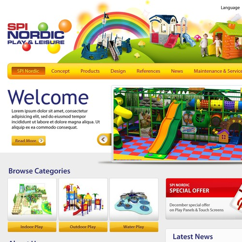 Website design for SPI Nordic Play & Leisure