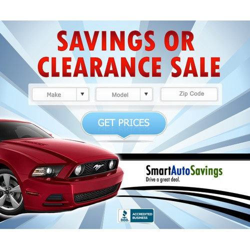 """banner ad for """"An exciting new automotive company"""""""