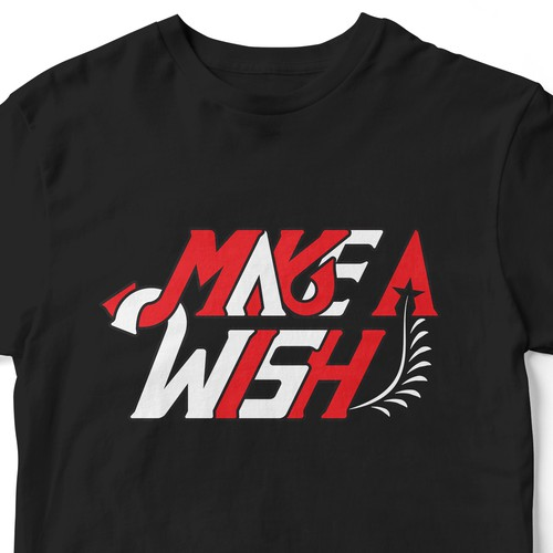 Make A Wish Typography T-shirt Design