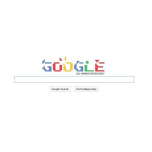 Design for google 30 th aniversary