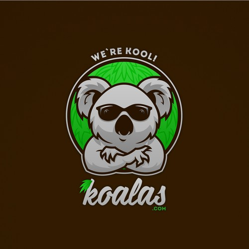 Logo-mascot for site about koalas