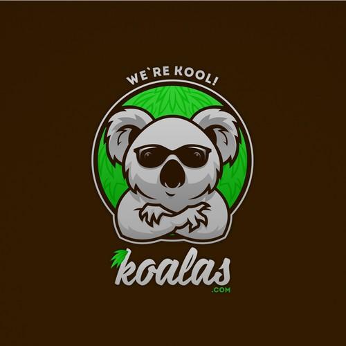Logo-mascot for site about koalas