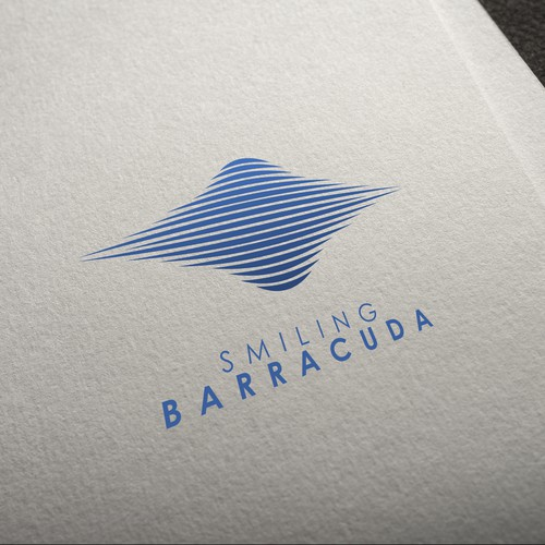 simple logo for smiling barracuda