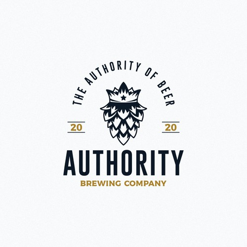 Vintage logo for a brewery