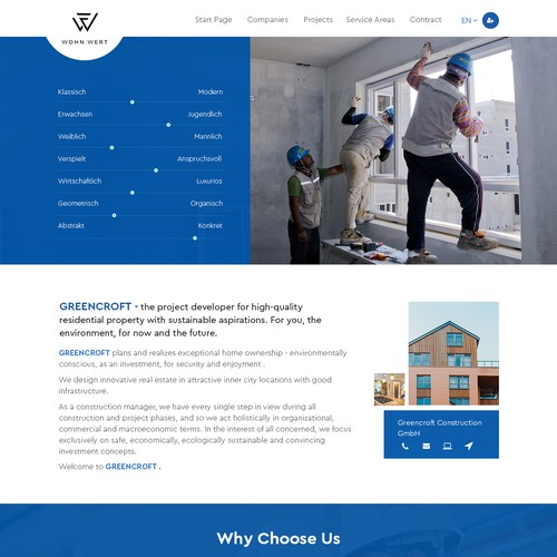 Website construction company