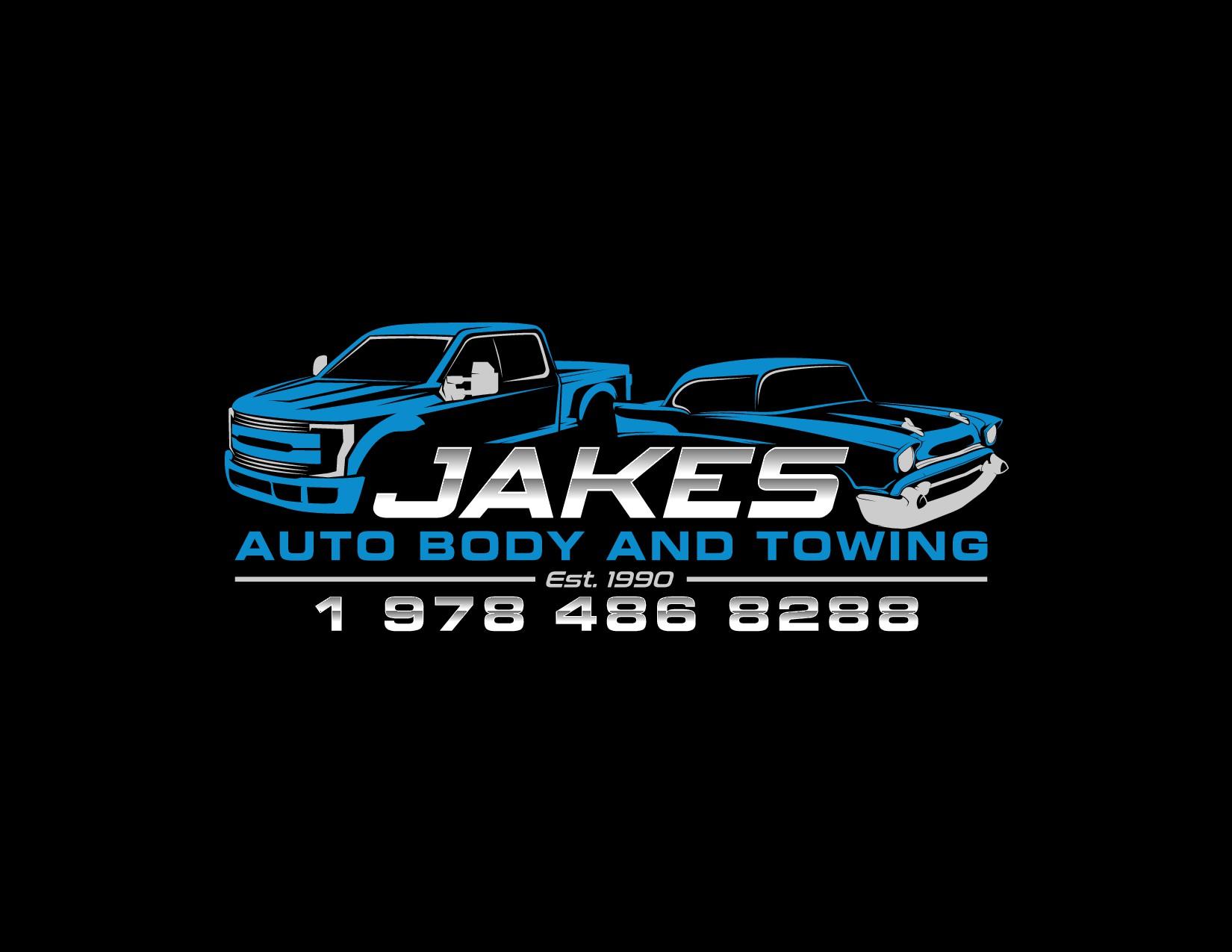 Jake's Auto Body logo collision center logo