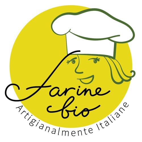 Bold logo concept for organic flour shop.