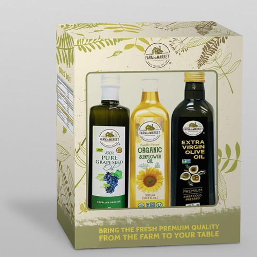 Box design for olive oil