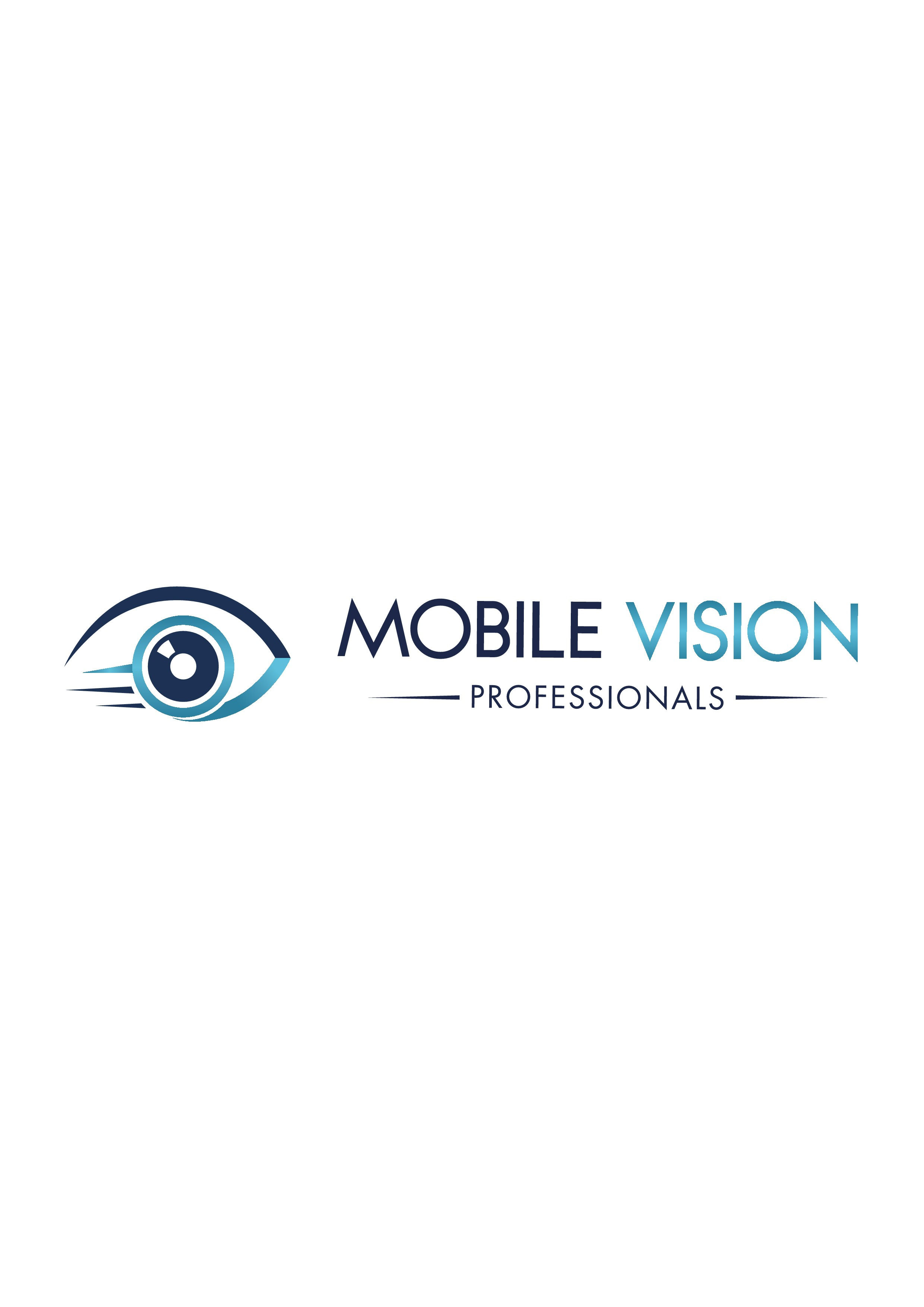 Create a logo and design concept for a mobile eye care practice.