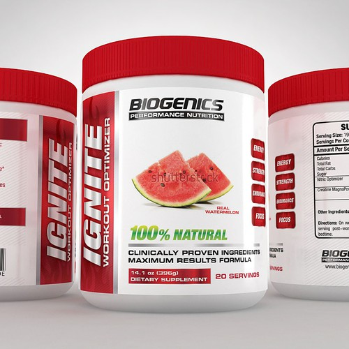 Label for BIOGENICS Performance Nutrition