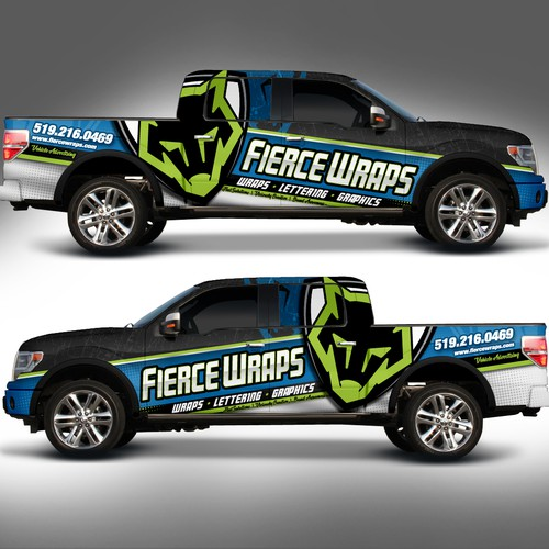 Truck Wrap Design for FierceWraps