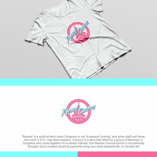 summer retro logo for clothing brand