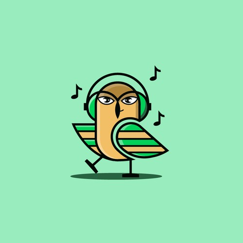 Owl Beats logo design