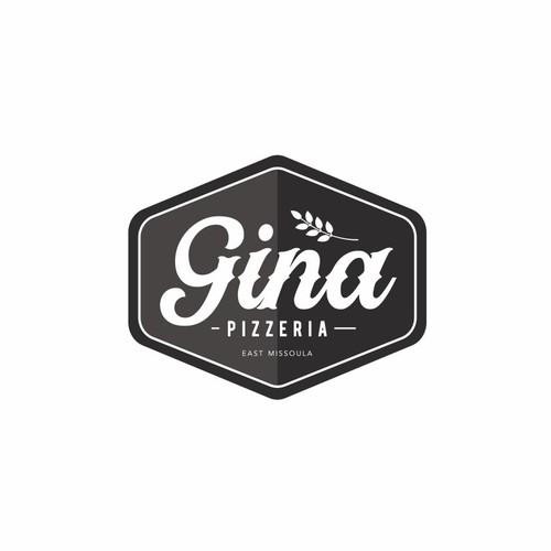 retro look pizza logo