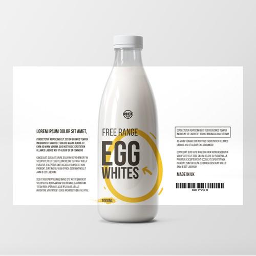 Modern Minimal Packaging Design for Bottled Egg White Product