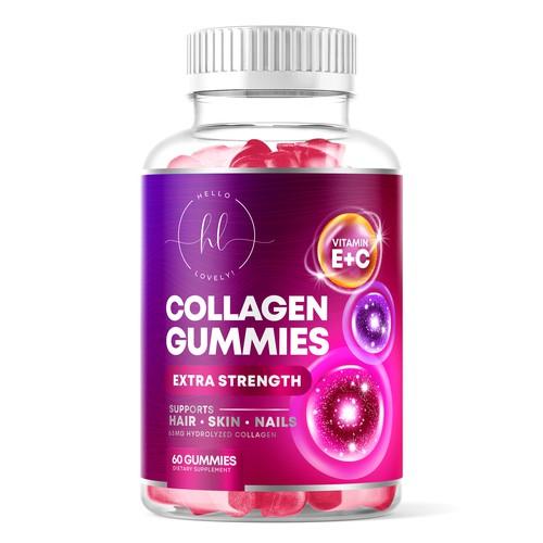 Hello Lovely! Collagen Gummies Label