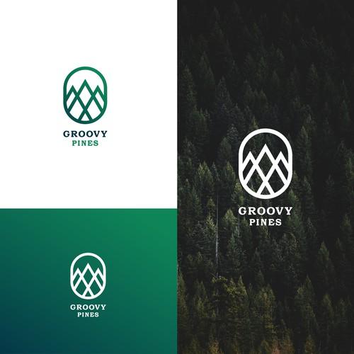 Groovy Pines Logo Design