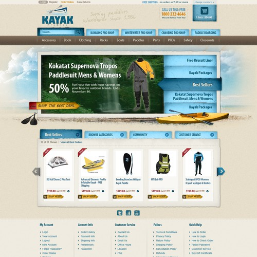 Help KayakProShop.com with a new website design
