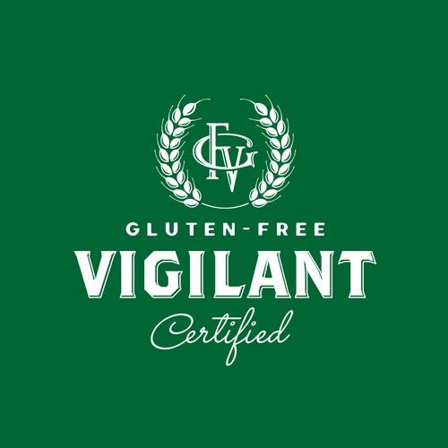 Vintage logo for gluten-free certification tool.