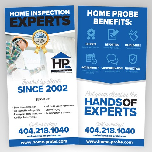 Flyer design for Home Inspection Company