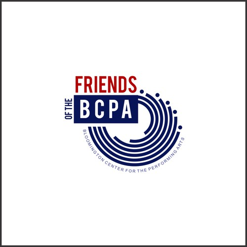 Artsy and colorful logo for Friends of the BCPA