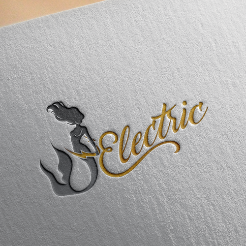 Sexy Super Woman Logo for Electric