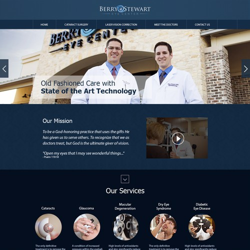 Update a website for a fast growing ophthalmology practice!