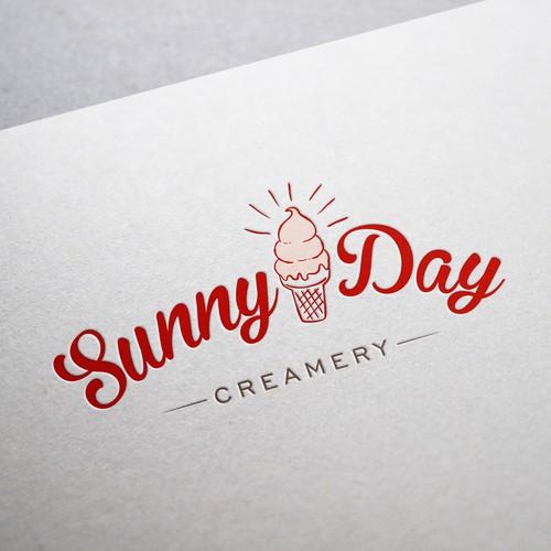 Bold logo concept for Creamery