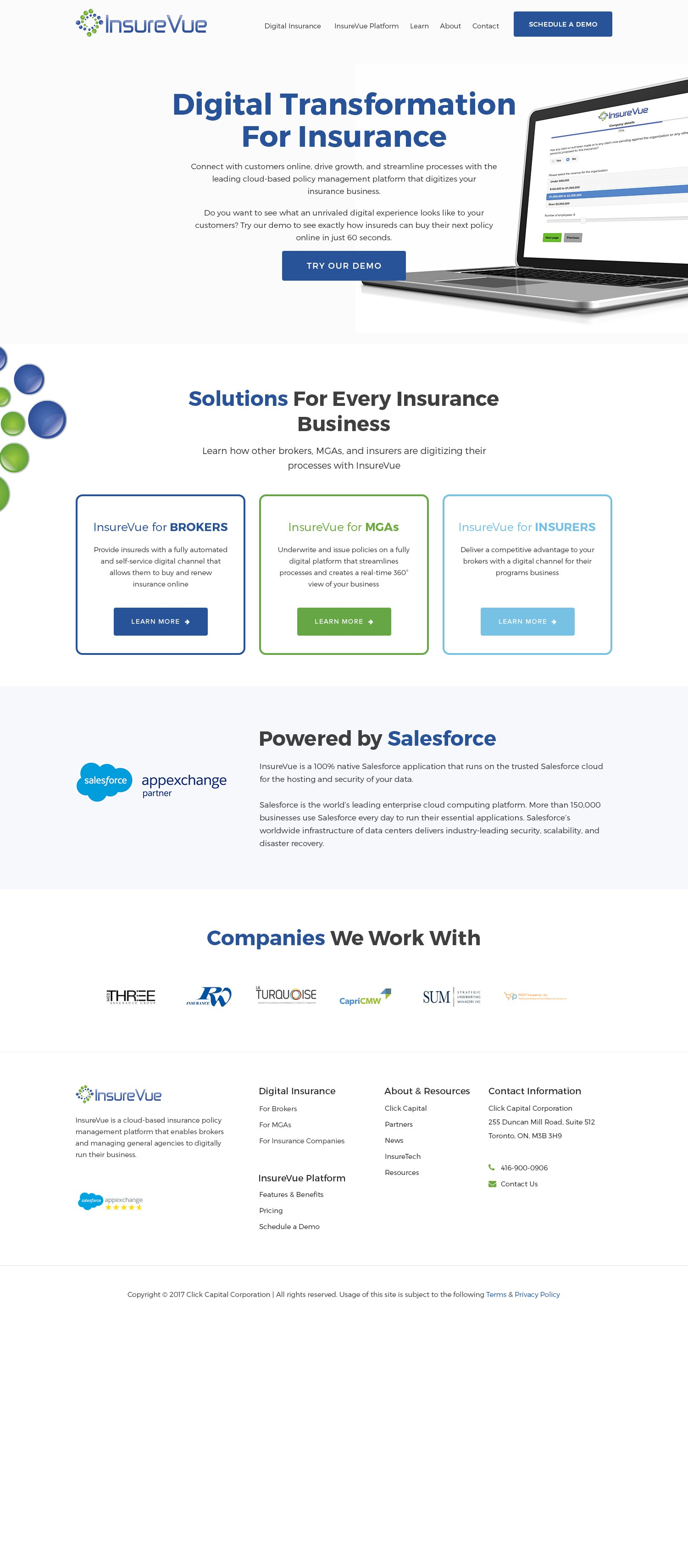 Software company - home page redesign