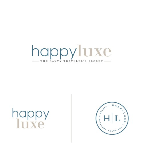 Logo design for HappyLuxe
