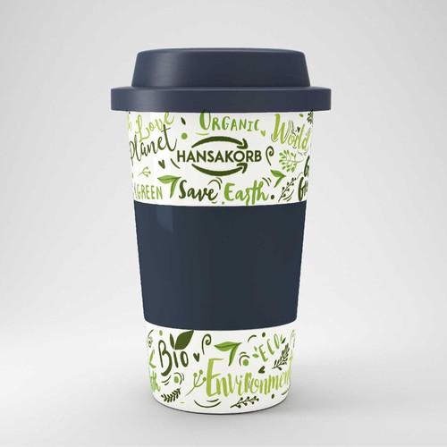 Eco pattern for Coffee2Go porcelain mug