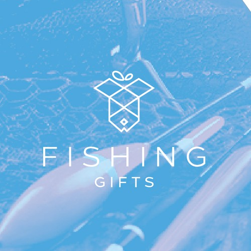 Clean and Clever Logo Design for Fishing Gifts