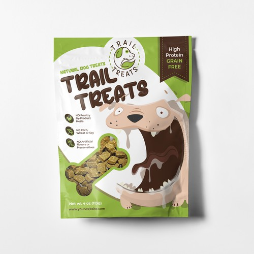 Dog Treat Stand-up Pouch