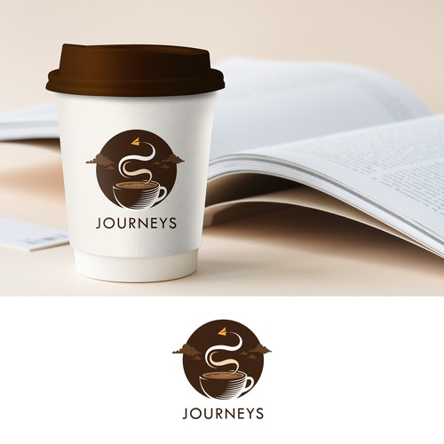 Creative logo concept for joureys coffee