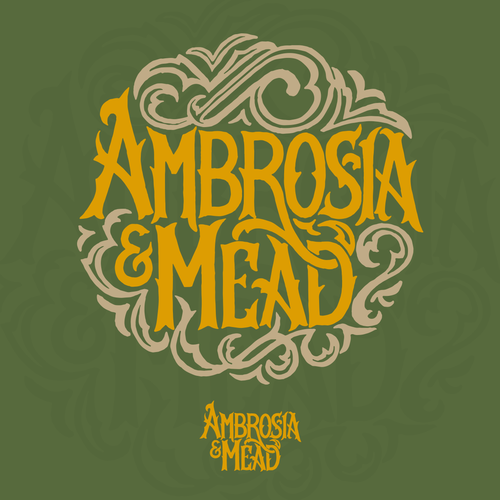 Lettering logo for Ambrosia & Mead