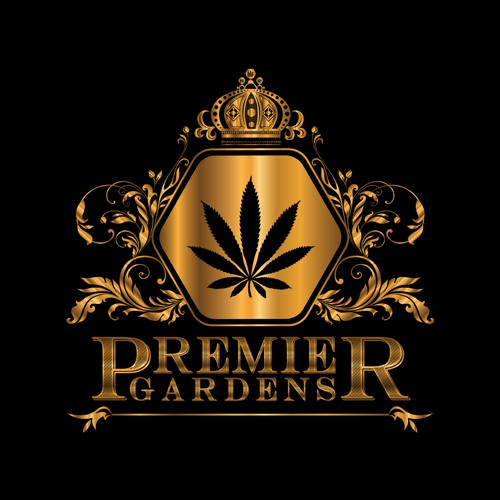 Luxury Vintage Logo For Premier Gardens